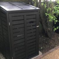 Single wheelie bin store - modern design - black