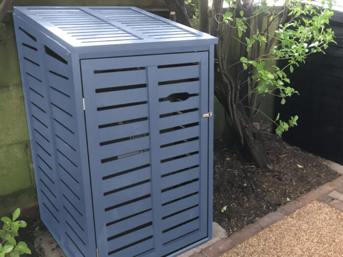 Single 1 bin storage unit - heritage blue