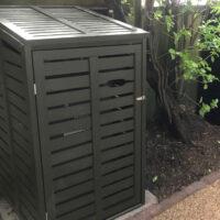 Single 1 wheelie bin store - dark olive green