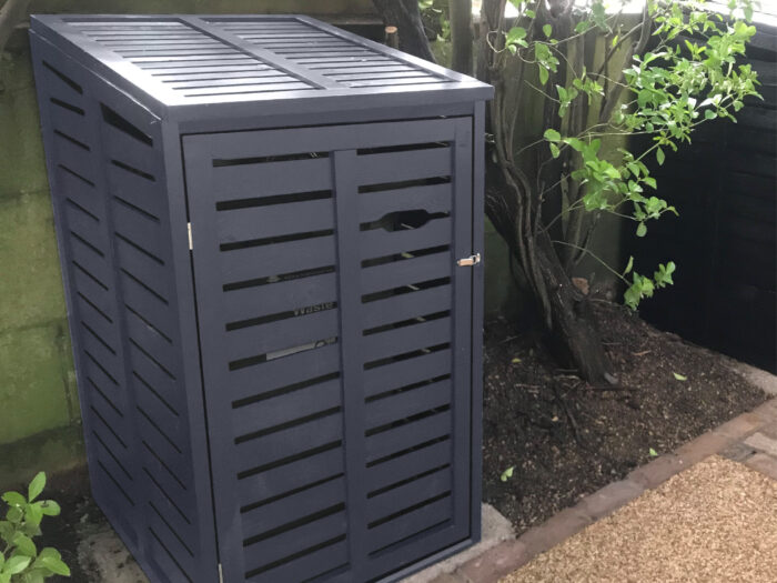 Single 1 wheelie bin storage - slate grey