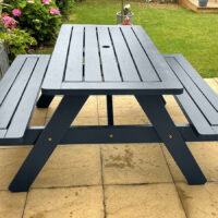 Painted garden bench - Anthracite